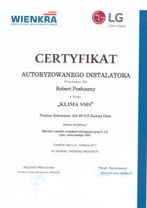 Certyfikat LG SAC 2016